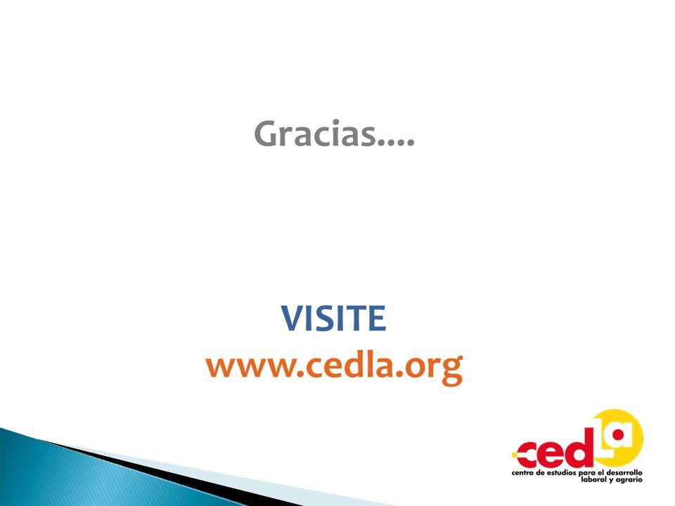 Gracias.... VISITE www.cedla.org