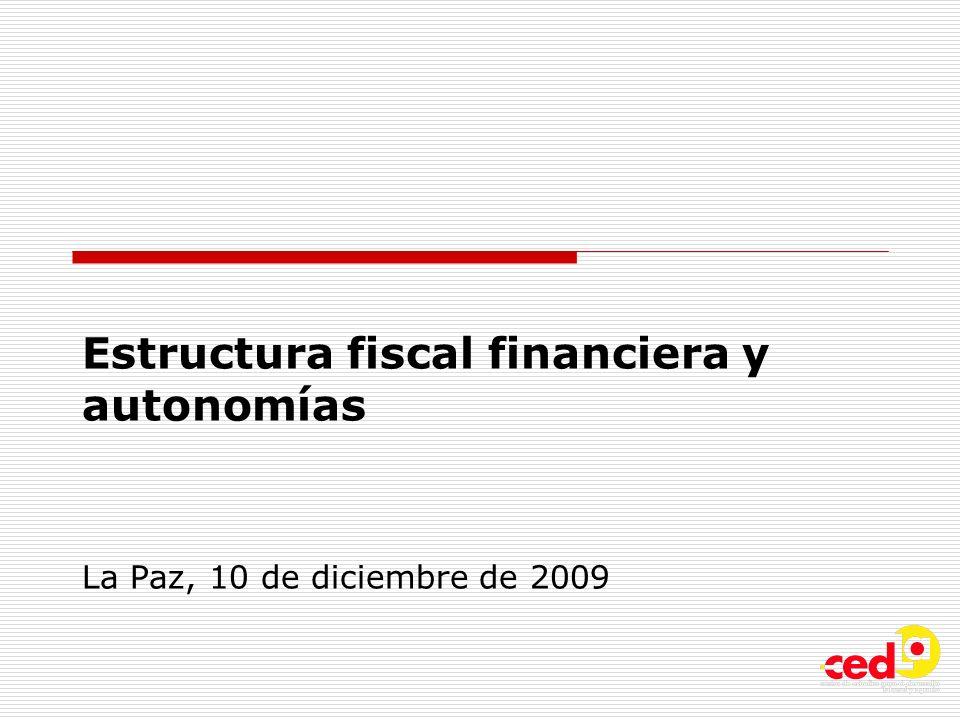 Estructura fiscal financiera y autonomías La Paz, 10 de diciembre de 2009