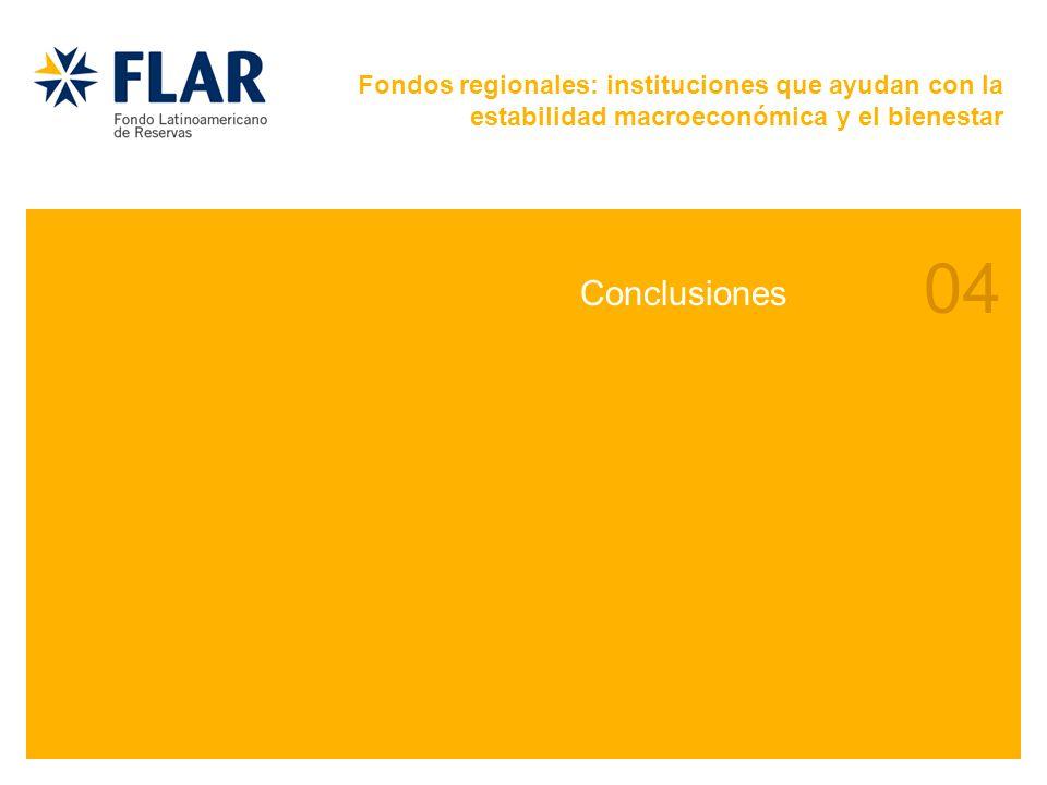 04 Conclusiones Fondos regionales: instituciones que ayudan con la estabilidad macroeconómica y el bienestar