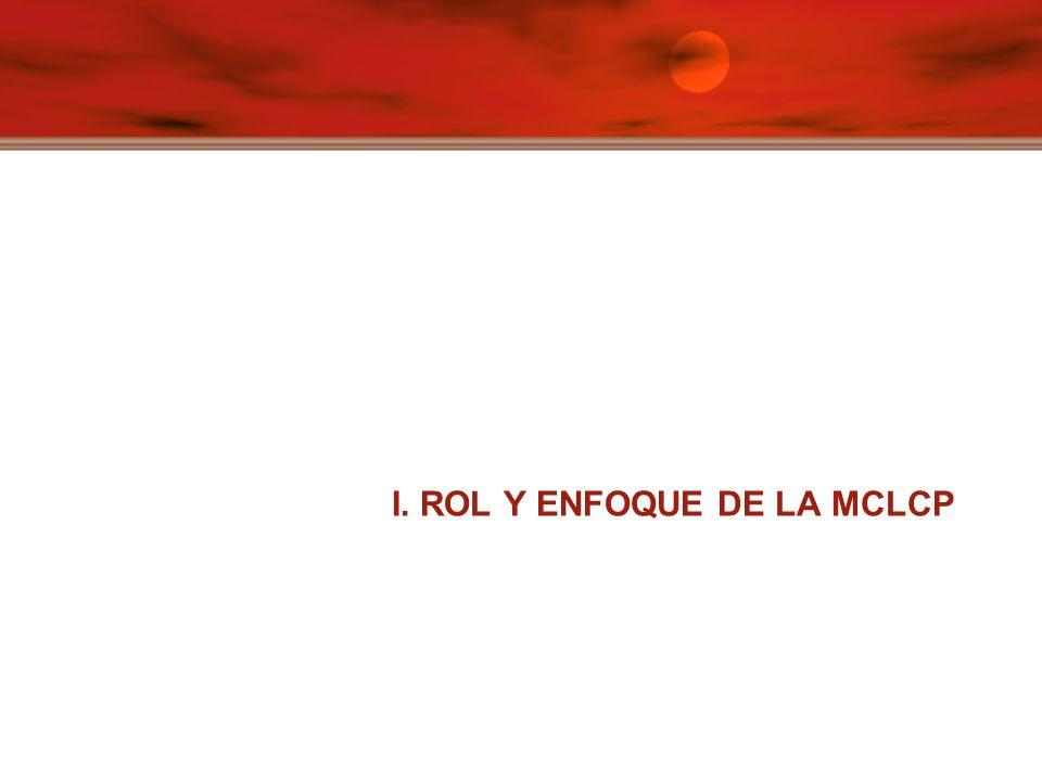 I. ROL Y ENFOQUE DE LA MCLCP