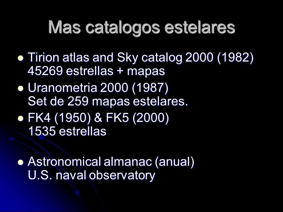 Mas catalogos estelares Tirion atlas and Sky catalog 2000 (1982) 45269 estrellas + mapas Tirion atlas and Sky catalog 2000 (1982) 45269 estrellas + ma
