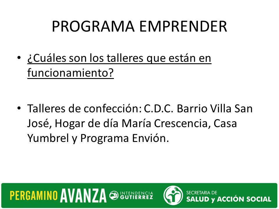 PROGRAMA EMPRENDER Talleres de peluquería: C.D.C.del Barrio 12 octubre y Programa Envión.