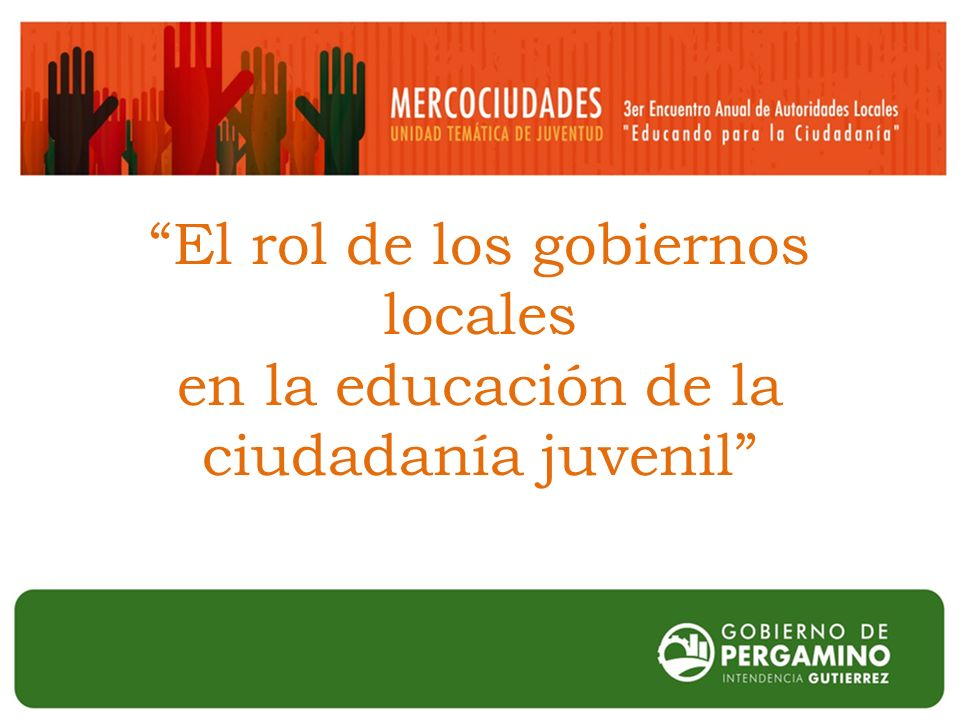 El rol de los gobiernos locales en la educación de la ciudadanía juvenil