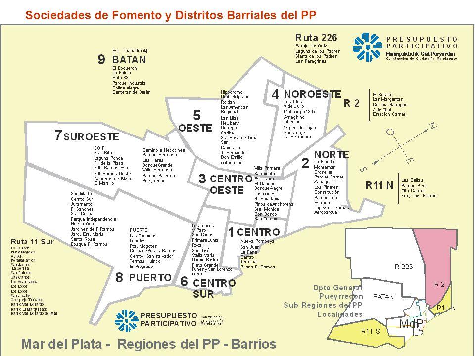 10 Sociedades de Fomento y Distritos Barriales del PP