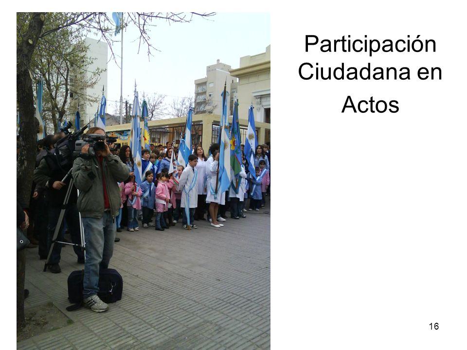 16 Participación Ciudadana en Actos
