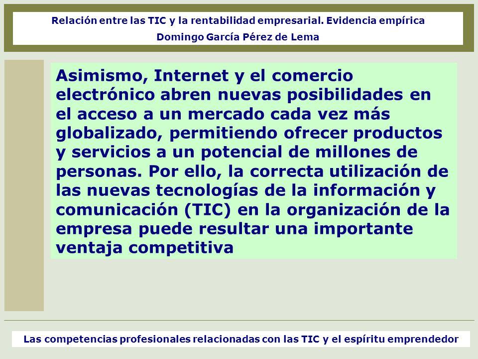 Relación entre las TIC y la rentabilidad empresarial.