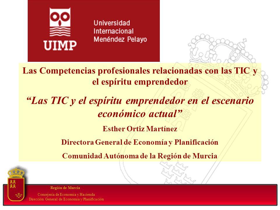 Your subtopic goes here Región de Murcia Consejería de Economía y Hacienda Dirección General de Economía y Planificación Las Competencias profesionale