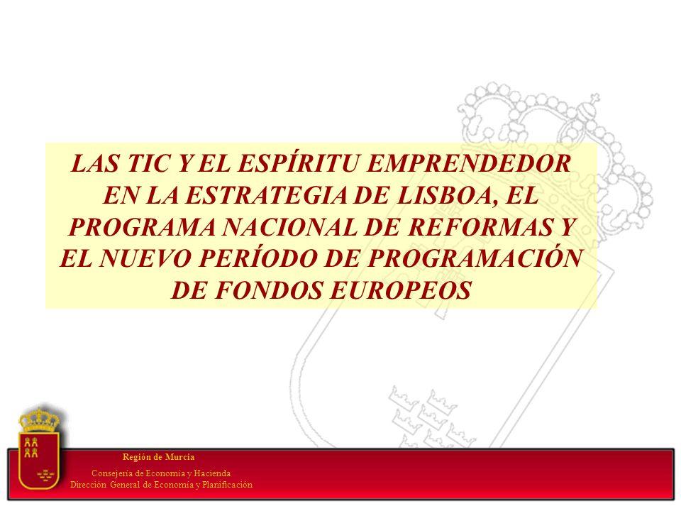 Your subtopic goes here Región de Murcia Consejería de Economía y Hacienda Dirección General de Economía y Planificación LAS TIC Y EL ESPÍRITU EMPREND