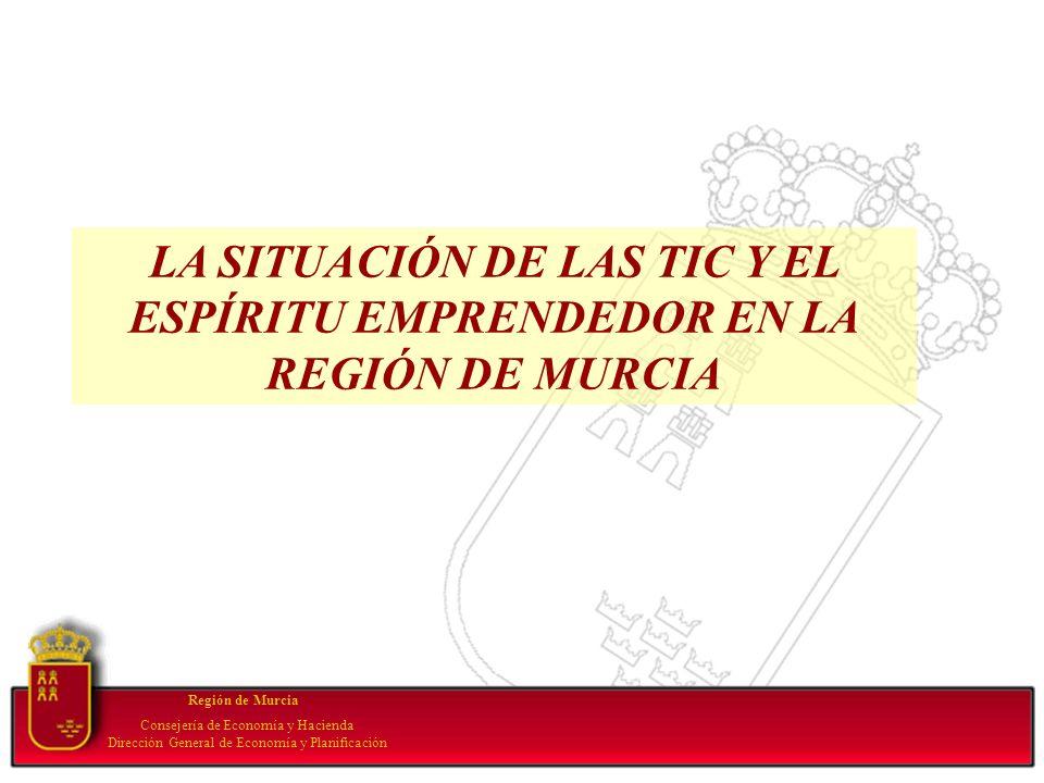 Your subtopic goes here Región de Murcia Consejería de Economía y Hacienda Dirección General de Economía y Planificación LA SITUACIÓN DE LAS TIC Y EL