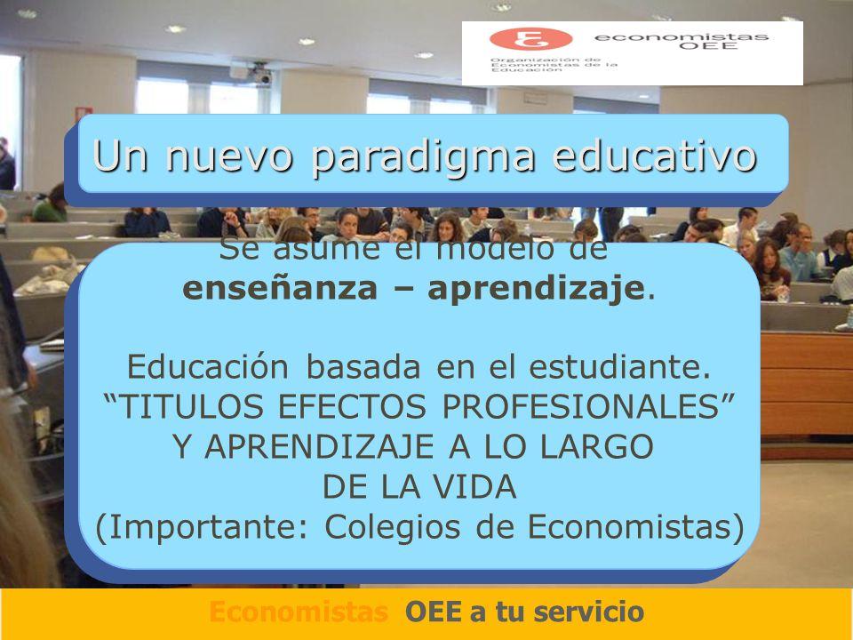 Un nuevo paradigma educativo Se asume el modelo de enseñanza – aprendizaje.