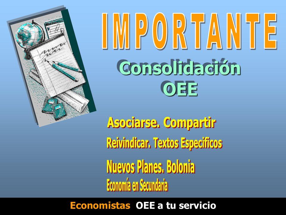 Consolidación OEE Economistas OEE a tu servicio