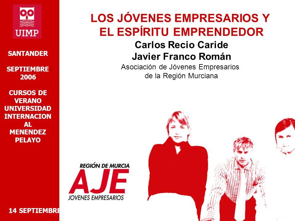 INTERNET 14 SEPTIEMBRE 2006 LOS JÓVENES EMPRESARIOS Y EL ESPÍRIITU EMPRENDEDOR -REVOLUCIÓN MUNDIAL PARA EL INTERCAMBIO DE LA INFORMACIÓN -DESAPROVECHADA POR LA GRAN MAYORIA DE PYMES (NO SOLO ES CUESTION DE PÁGINA WEB) -RETO ES APLICAR TODAS LAS OPCIONES DE MOVILIDAD A LA GESTIÓN DEL NEGOCIO EL 41% DE LA POBLACIÓN ESPAÑOLA ES USUARIA DE INTERNET EL 25% DE USUARIOS HA COMPRADO A TRAVÉS DE LA RED EN 2005 (4,5 MILLONES DE PERSONAS) UN 10% MÁS QUE 2004 EL GASTO MEDIO SE SITUA EN 464-, UN 6% MÁS QUE 2004