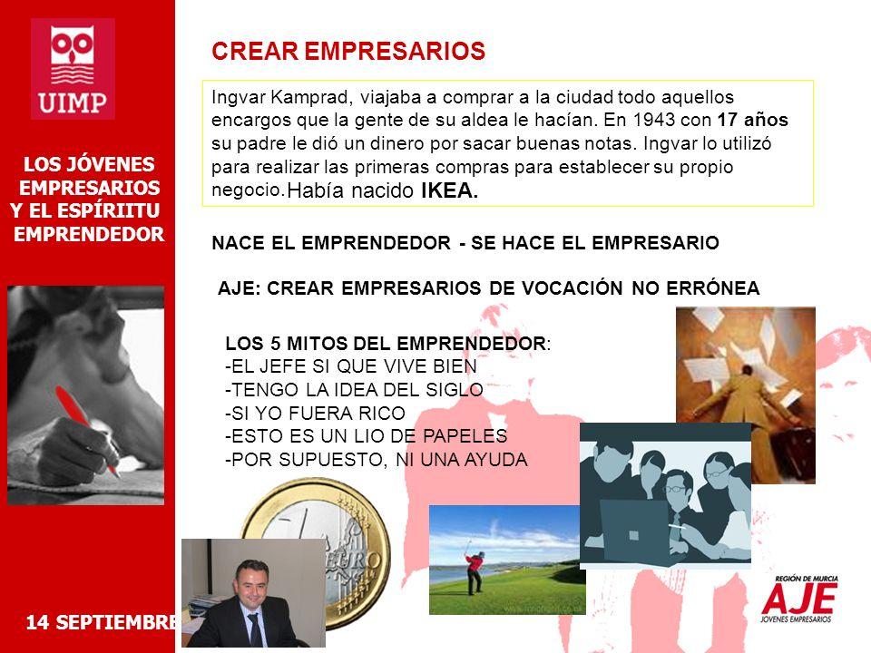 14 SEPTIEMBRE 2006 LOS JÓVENES EMPRESARIOS Y EL ESPÍRIITU EMPRENDEDOR ¿QUÉ NECESITO PARA EL VIAJE.