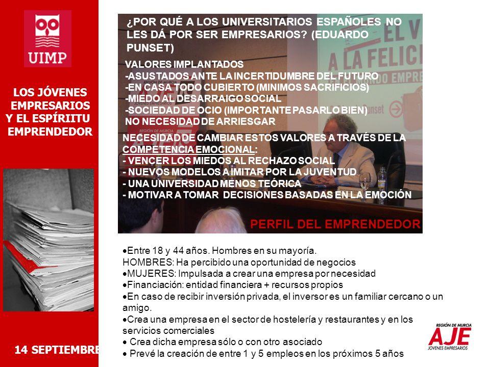 2- LAS TICS Y LOS JÓVENES EMPRESARIOS -OPERATIVIDAD MOVIL TRABAJAR FUERA DE LA OFICINA SUBCONTRATACIONES EXTERNAS (OTROS PAISES) -ACCESO A MERCADOS (GEOGRÁFICOS) COMERCIO ELECTRÓNICO -RAPIDEZ DE PROCESOS RESPUESTAS A CLIENTES, PROVEEDORES… -AHORRO DE COSTES DE COMUNICACIÓN DE INFORMACIÓN -NECESIDAD DE ACTUALIZACIÓN CONTINUA FORMACIÓN CONTINUADA ACTUALIZACIÓN CONSTANTE DE HARDWARE//SOFTWARE -MAYOR EXIGENCIA DEL MERCADO 14 SEPTIEMBRE 2006 LOS JÓVENES EMPRESARIOS Y EL ESPÍRIITU EMPRENDEDOR GRANDES OPORTUNIDADES