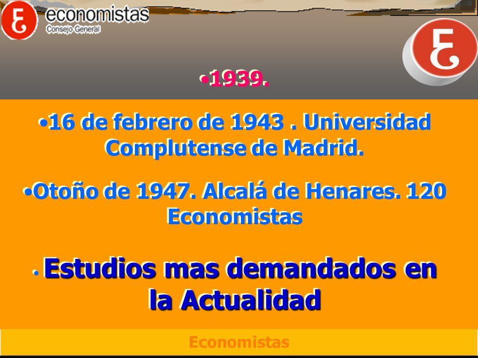 1939. 16 de febrero de 1943. Universidad Complutense de Madrid.