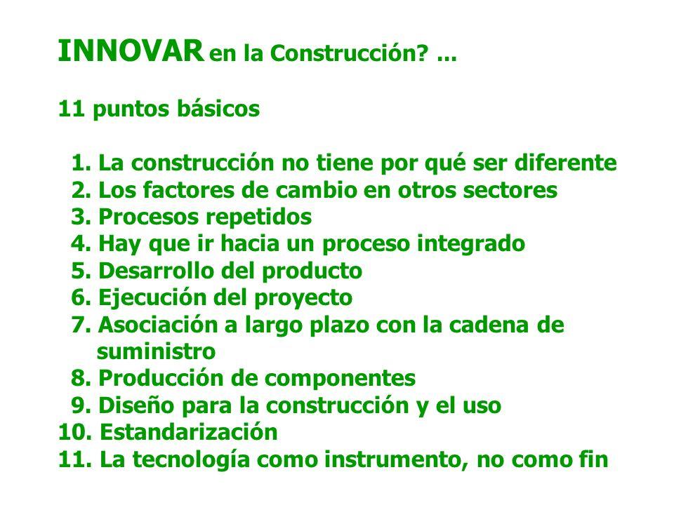 INNOVAR en la Construcción ... 11 puntos básicos 1.