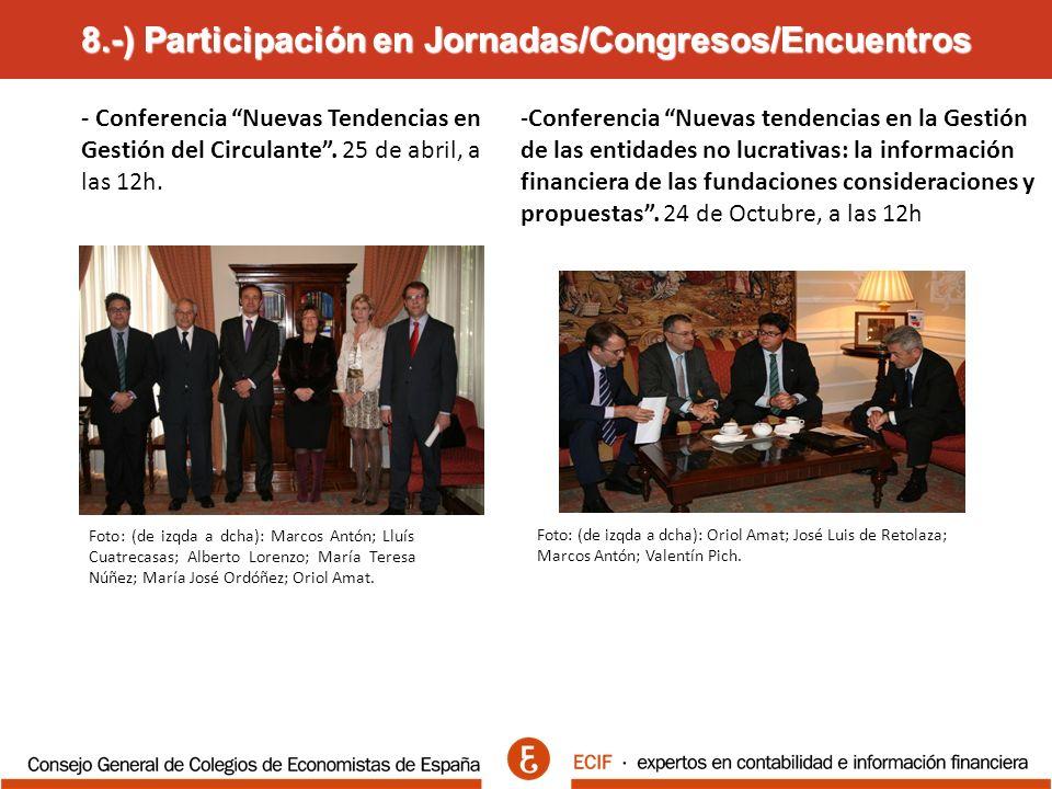 8.-) Participación en Jornadas/Congresos/Encuentros - Conferencia Nuevas Tendencias en Gestión del Circulante.