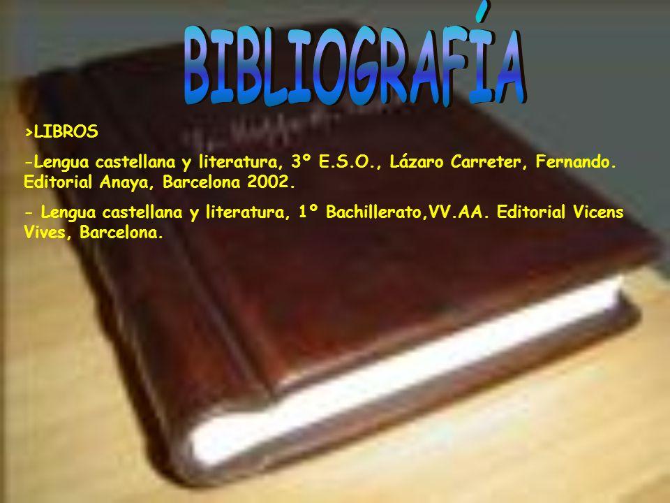 -Diccionario de sinónimos de la lengua castellana. Editorial Antalbe, Barcelona. -Encarta 2002. >INTERNET: -www.castillosdejirm.com -www.cervantesvirt