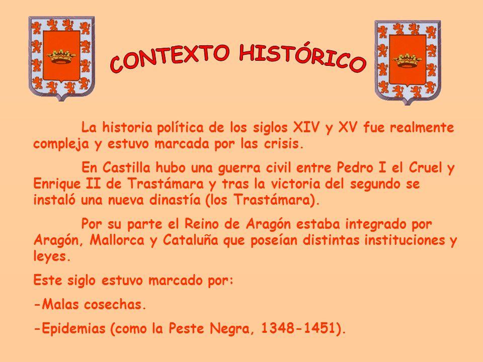La historia política de los siglos XIV y XV fue realmente compleja y estuvo marcada por las crisis.