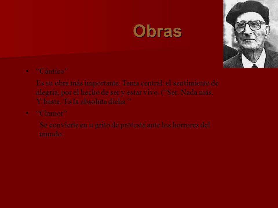 Obras El poeta en la calle Temas sociales Retorno de lo vivo lejano Evocaciones nostálgicas del pasado y de la patria lejana).