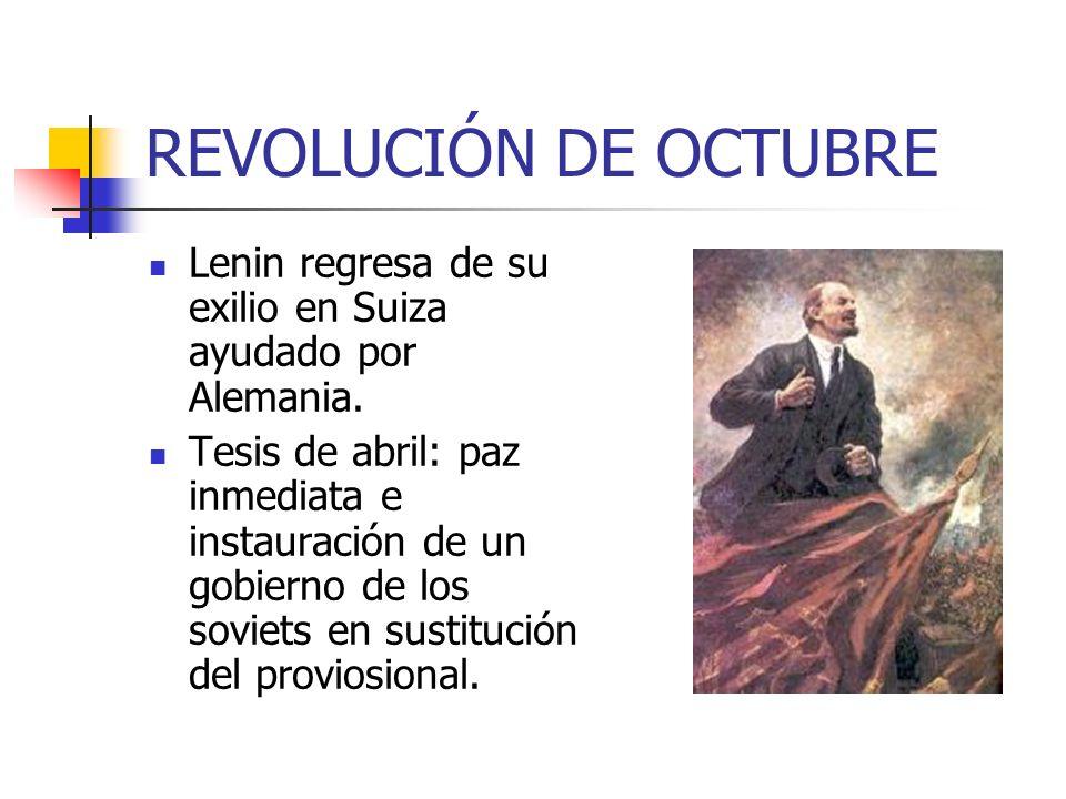 REVOLUCIÓN DE OCTUBRE El gobierno provisional persiguió a los bolcheviques acusándolos de instigadores a la rebelión.