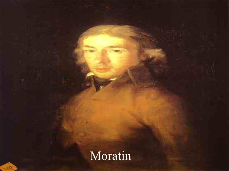 Moratín (II) Además de su sátira en prosa, La derrota de los pedantes (1789), sus obras teatrales más importantes son La comedia nueva o el café (1792