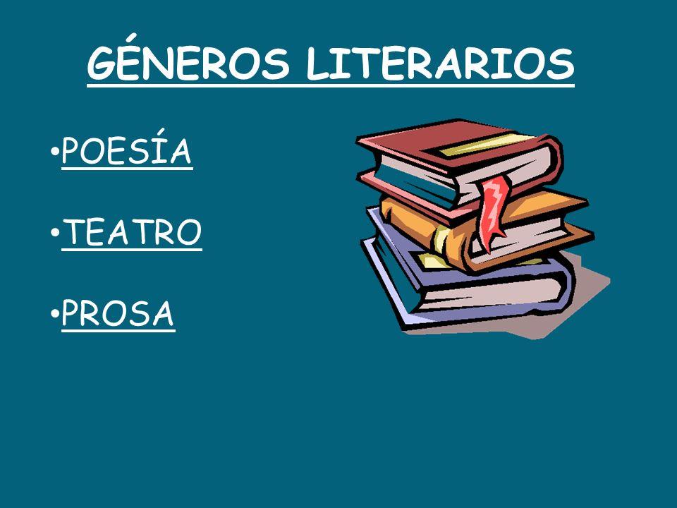 GÉNEROS LITERARIOS POESÍA TEATRO PROSA