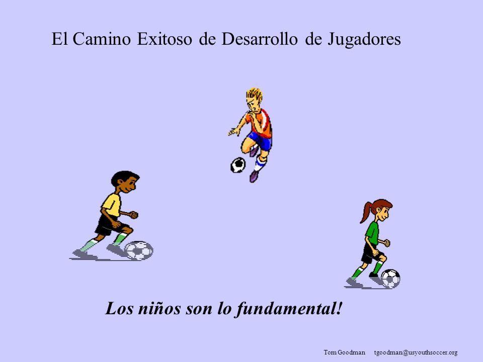 Tom Goodman tgoodman@usyouthsoccer.org El Camino Exitoso de Desarrollo de Jugadores Los niños son lo fundamental!