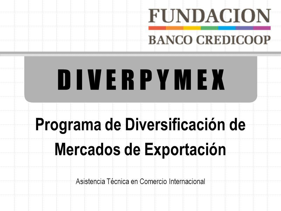 D I V E R P Y M E X Programa de Diversificación de Mercados de Exportación Asistencia Técnica en Comercio Internacional