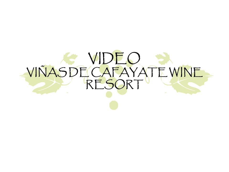 VIDEO VIÑAS DE CAFAYATE WINE RESORT