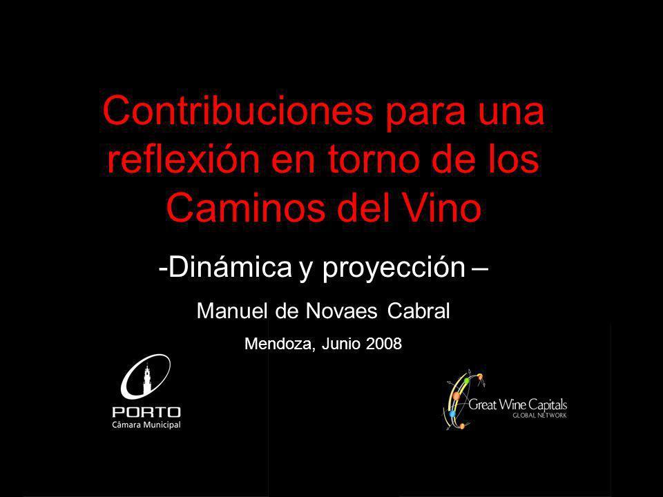 Contribuciones para una reflexión en torno de los Caminos del Vino -Dinámica y proyección – Manuel de Novaes Cabral Mendoza, Junio 2008