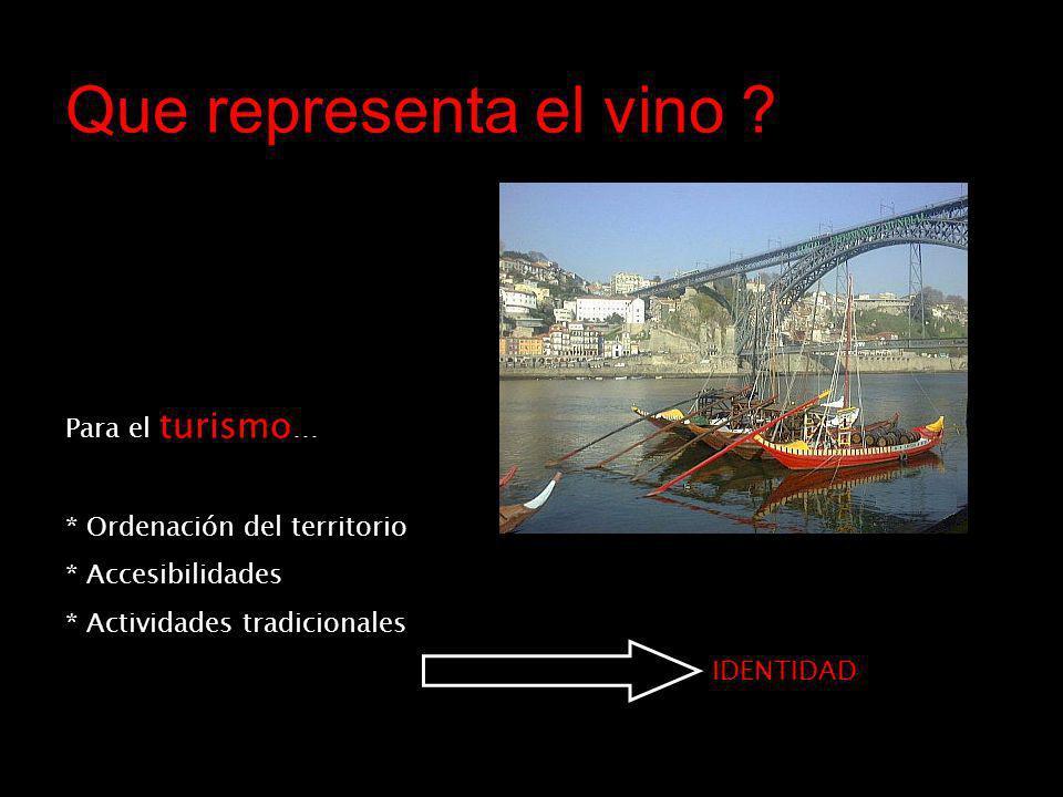 Que representa el vino .