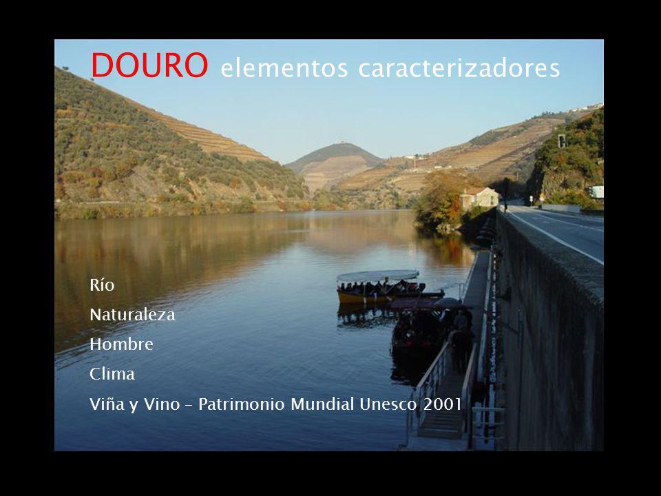 DOURO elementos caracterizadores Río Naturaleza Hombre Clima Viña y Vino – Patrimonio Mundial Unesco 2001