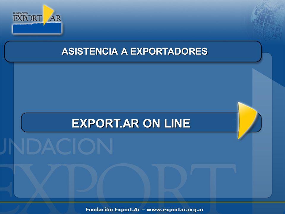 Fundación Export.Ar – www.exportar.org.ar ASISTENCIA A EXPORTADORES EXPORT.AR ON LINE