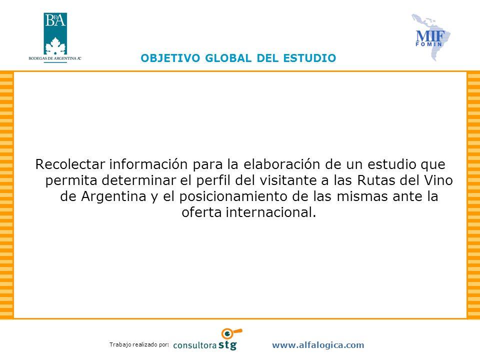 Trabajo realizado por: www.alfalogica.com Recolectar información para la elaboración de un estudio que permita determinar el perfil del visitante a la