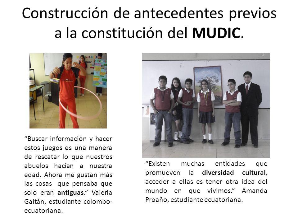 Construcción de antecedentes previos a la constitución del MUDIC. Buscar información y hacer estos juegos es una manera de rescatar lo que nuestros ab