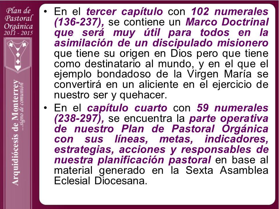 Un factor que ayudó y enriqueció al adecuado desarrollo del Plan de Pastoral Orgánica 2006-2010 fueron las subsecuentes cuatro Asambleas Eclesiales Diocesanas en el 2006, el 2007, el 2008 y el 2009 (n.