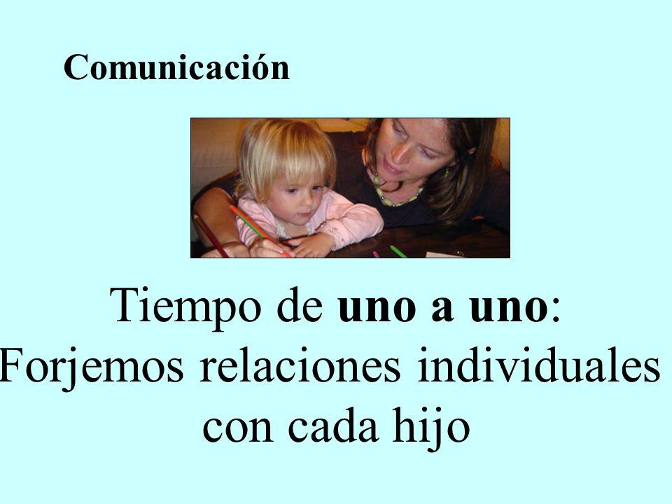 Tiempo de uno a uno: Forjemos relaciones individuales con cada hijo Comunicación