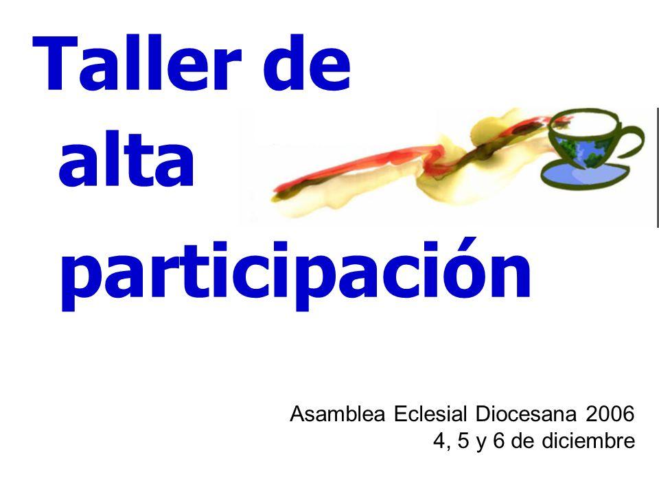 Asamblea Eclesial Diocesana 2006 4, 5 y 6 de diciembre Taller de alta participación