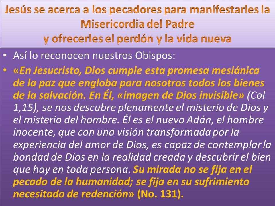 Así lo reconocen nuestros Obispos: «En Jesucristo, Dios cumple esta promesa mesiánica de la paz que engloba para nosotros todos los bienes de la salvación.