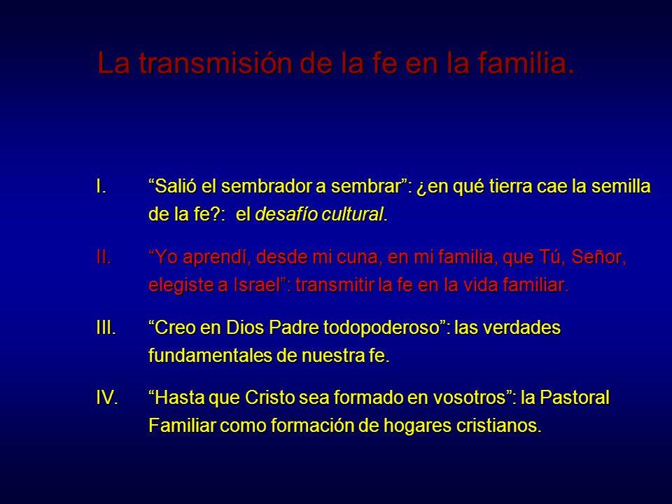 Transmitir la fe en la vida familiar El joven Samuel servía al Señor al lado de Elí.
