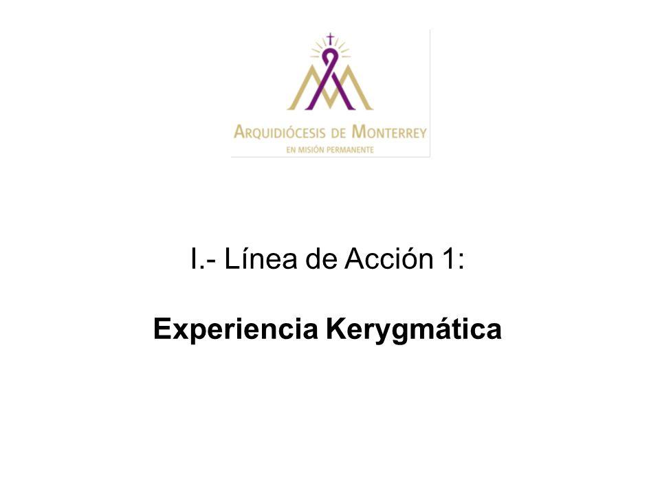 I.- Línea de Acción 1: Experiencia Kerygmática
