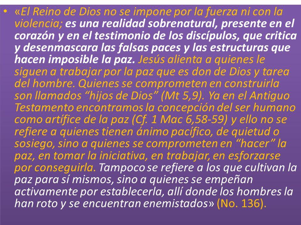 «El Reino de Dios no se impone por la fuerza ni con la violencia; es una realidad sobrenatural, presente en el corazón y en el testimonio de los discí