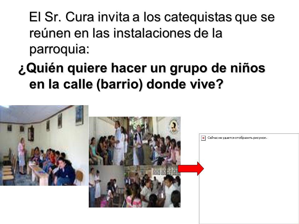 El Sr. Cura invita a los catequistas que se reúnen en las instalaciones de la parroquia: El Sr. Cura invita a los catequistas que se reúnen en las ins