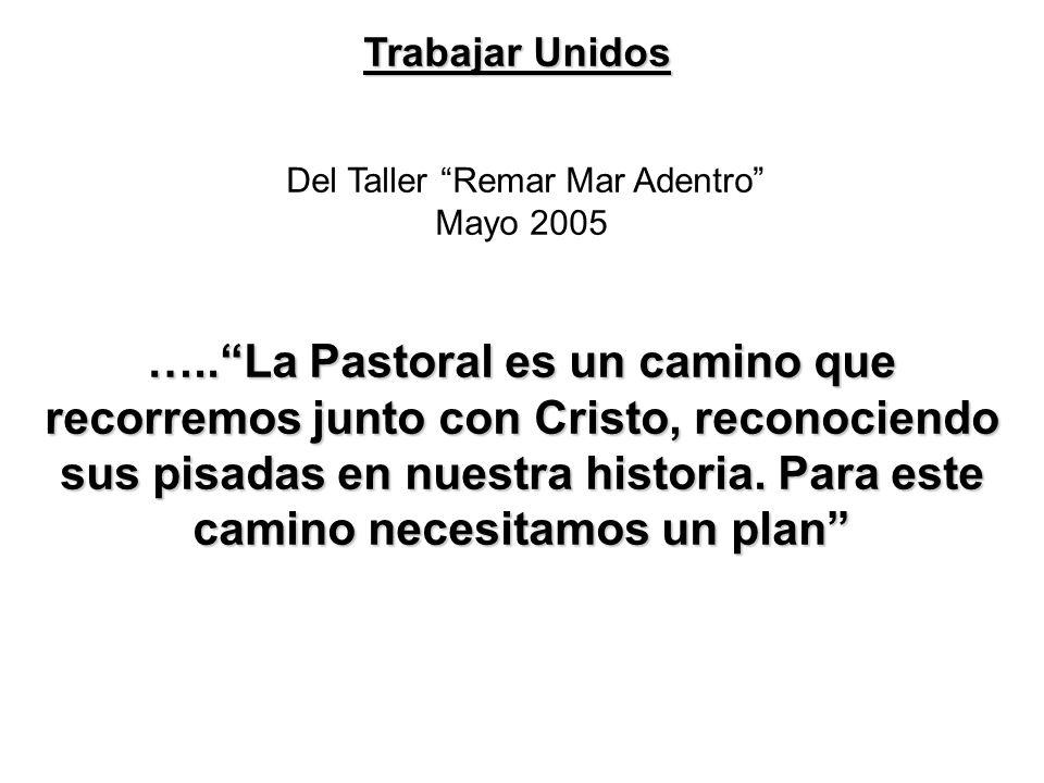 Del Taller Remar Mar Adentro Mayo 2005 …..La Pastoral es un camino que recorremos junto con Cristo, reconociendo sus pisadas en nuestra historia.