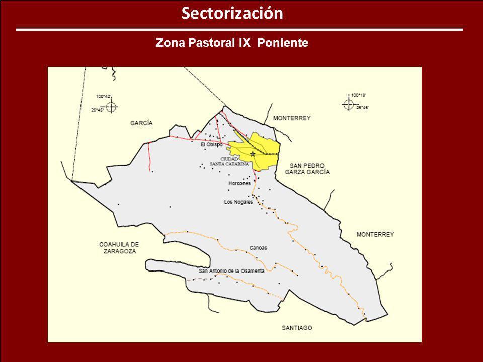 Sectorización Zona Pastoral IX Poniente