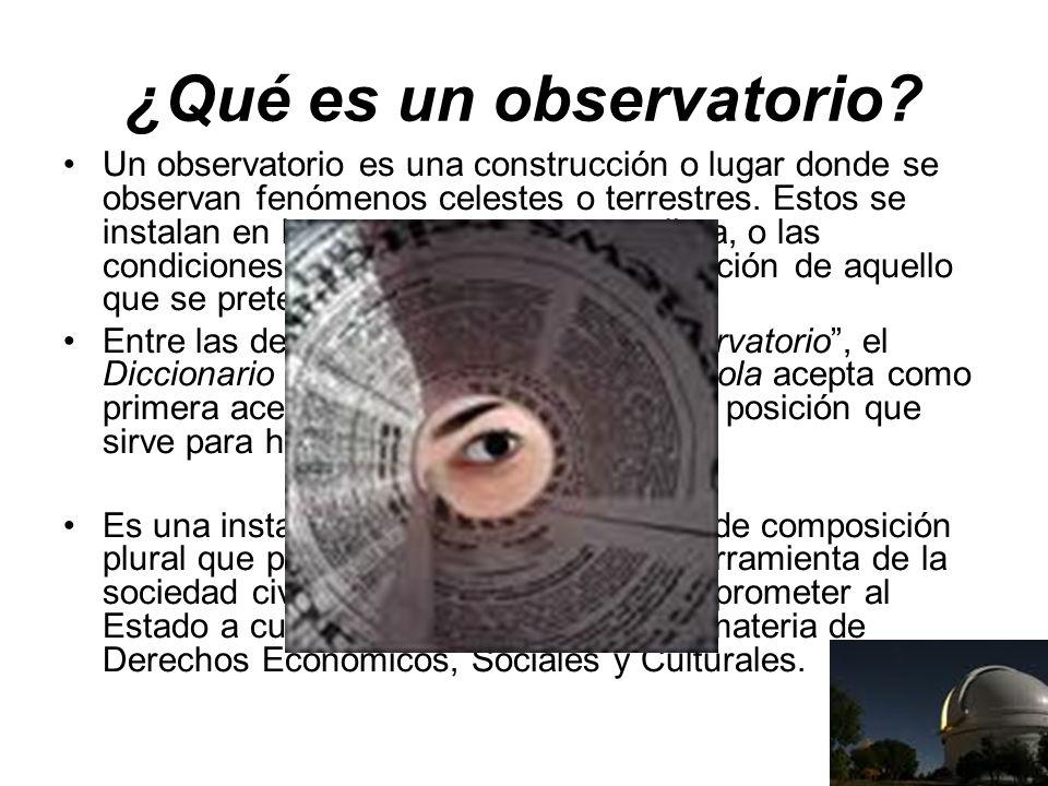 ¿Qué es un observatorio.