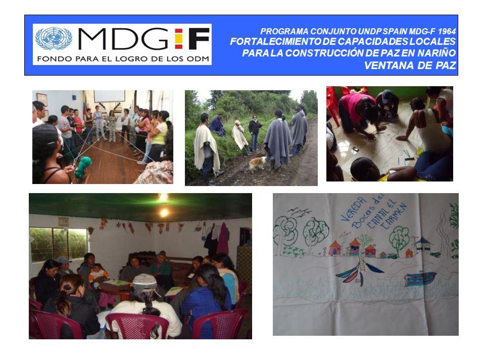 PROGRAMA CONJUNTO UNDP SPAIN MDG-F 1964 FORTALECIMIENTO DE CAPACIDADES LOCALES PARA LA CONSTRUCCIÓN DE PAZ EN NARIÑO VENTANA DE PAZ