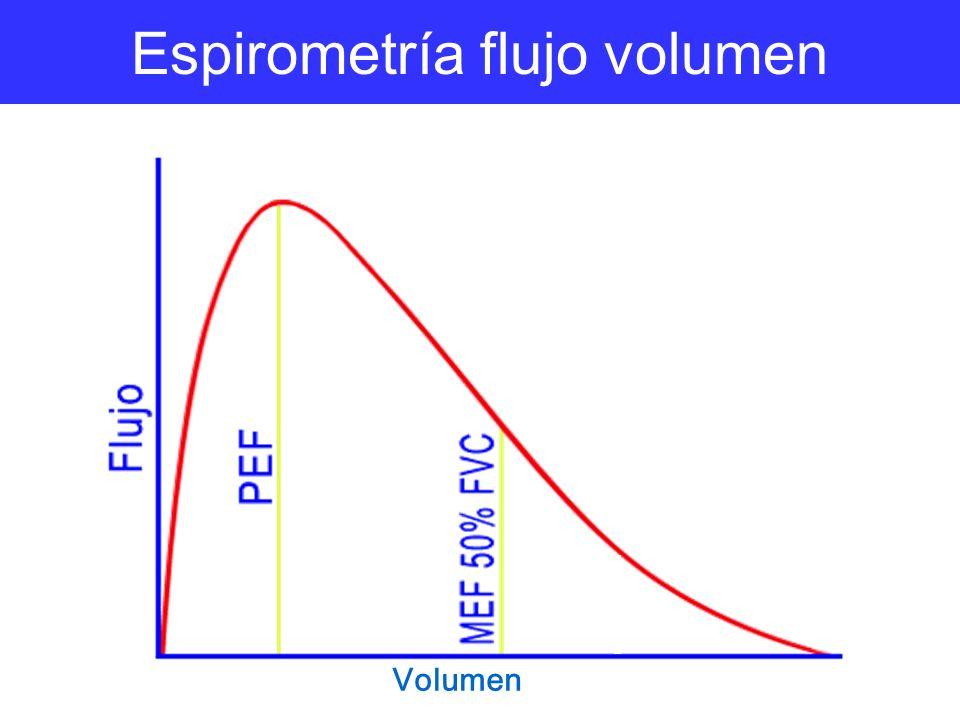 Espirometría flujo volumen Volumen