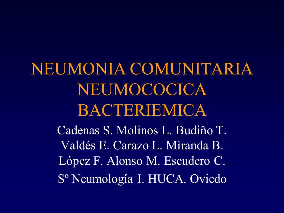 OBJETIVOS Conocer –Factores y enfermedades asociadas –Evolución –Tratamiento –Serotipo –Sensibilidad a antimicrobianos –Peculiaridades en pacientes EPOC
